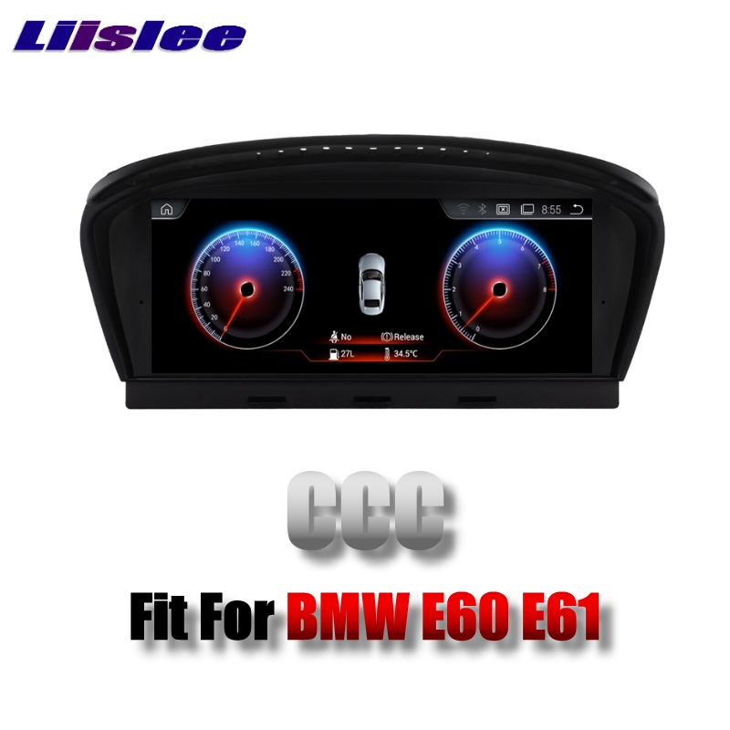 For BMW 5 E60 E61 CCC system 2003~2007 LiisLee Multimedia GPS Audio Hi-Fi Radio Stereo Original Style For CCC Navigation NAVI Воск