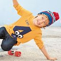 Toddler Baby Boys Long Sleeve Tees Tops Kids Numbers T-shirt O-Neck Clothes