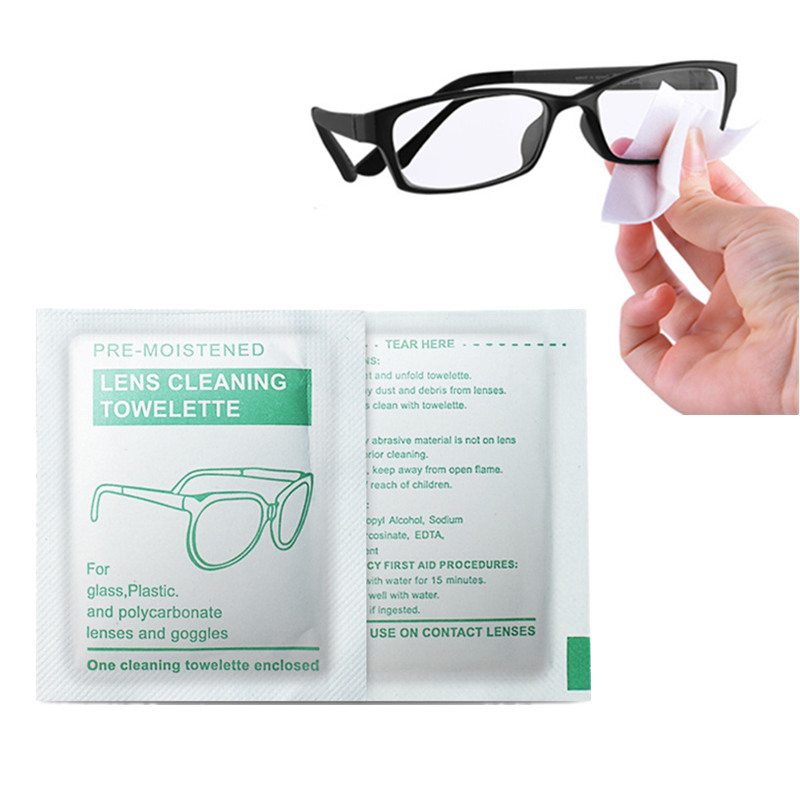 20PCS Eyeglasses <font><b>Polishing</b></font> <font><b>Cleaner</b></font> Microfiber Glasses Cleaning Cloth For Lens Phone Screen Cleaning Disposable Wet Tissue Wipes image