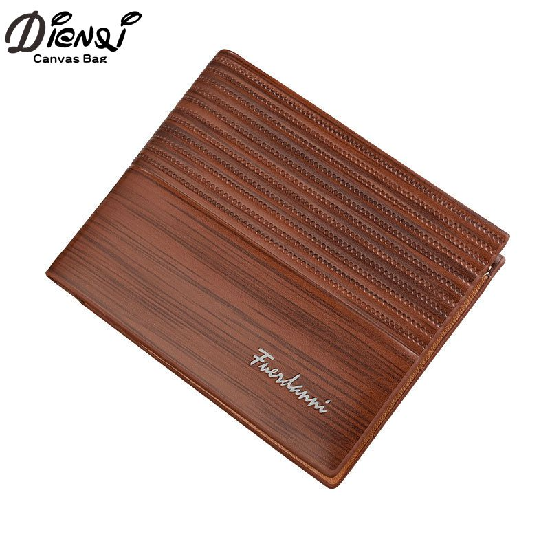 2018 New Men Short Wallets Black Brown Bifold Wallet Mens Brand Faux Leather Card Holder Money Cash Wallet Purses Pockets hot sale leather men s wallets famous brand casual short purses male small wallets cash card holder high quality money bags 2017