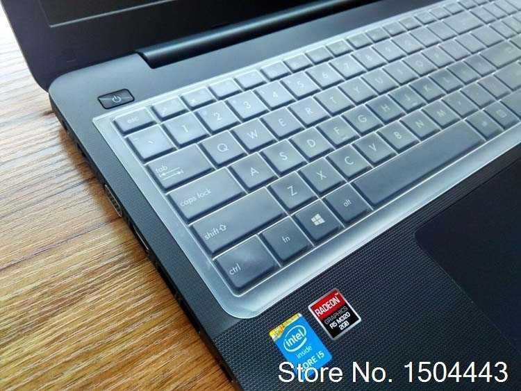 15.6 بوصة مفكرة غطاء لوحة المفاتيح السيليكون واقية حامي لشركة آسوس n56vb FX50JK W519L VM510L R557L Y581C F550VB