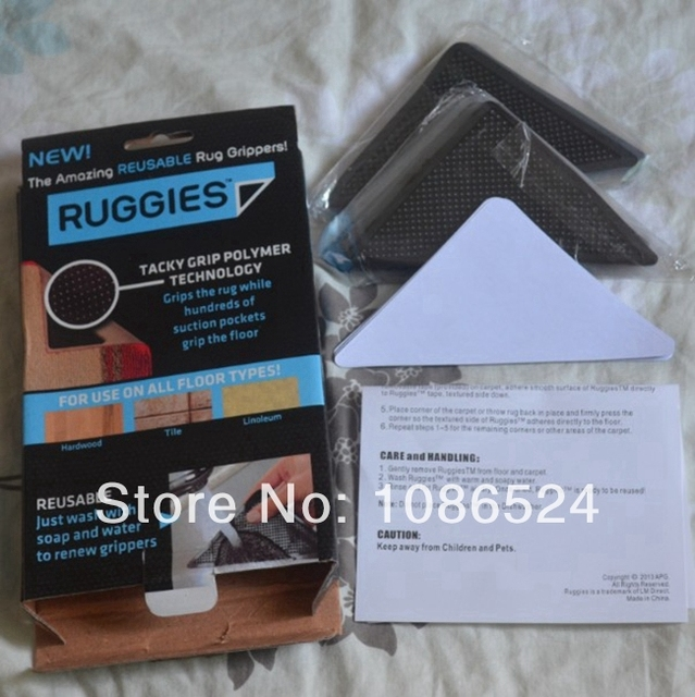 Free Shipping Ruggies Rug Grippers As Seen On Tv 8pcs Set