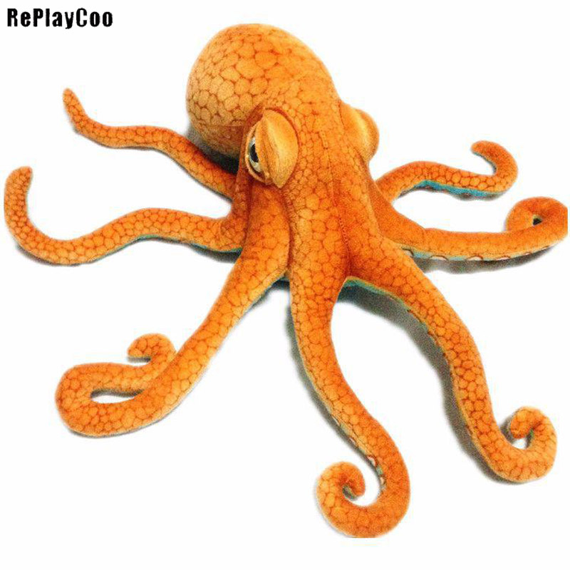 Octopus Plush Toy Giant Stuffed Cuttlefish Animal Soft Doll Stuffed Squids Plush 80cm/32 Kids Toys Gifts for Girlfrend GMR024 small octopus animal series many chew toy