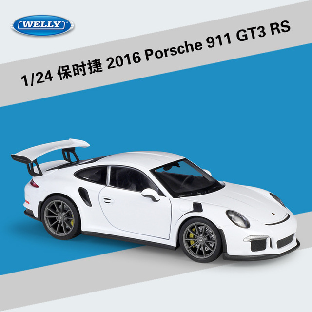 Welly 1:24 Scale Simulator Model Car Alloy Porsch 911(997) GT3 RS Sports Car Diecast Metal Toy Racing Car For Kid toys Gift