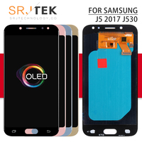 OLED Screen For Samsung J530 LCD Display For GALAXY J530F LCD Display Touch Digitizer Glass Assembly With Frame J5 2017 Display