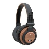 Headphones ASRJ WT 01 Detachable Cable Eco Friendly Over Ear Foldable Wireless Genuine Wood Mic Headphone