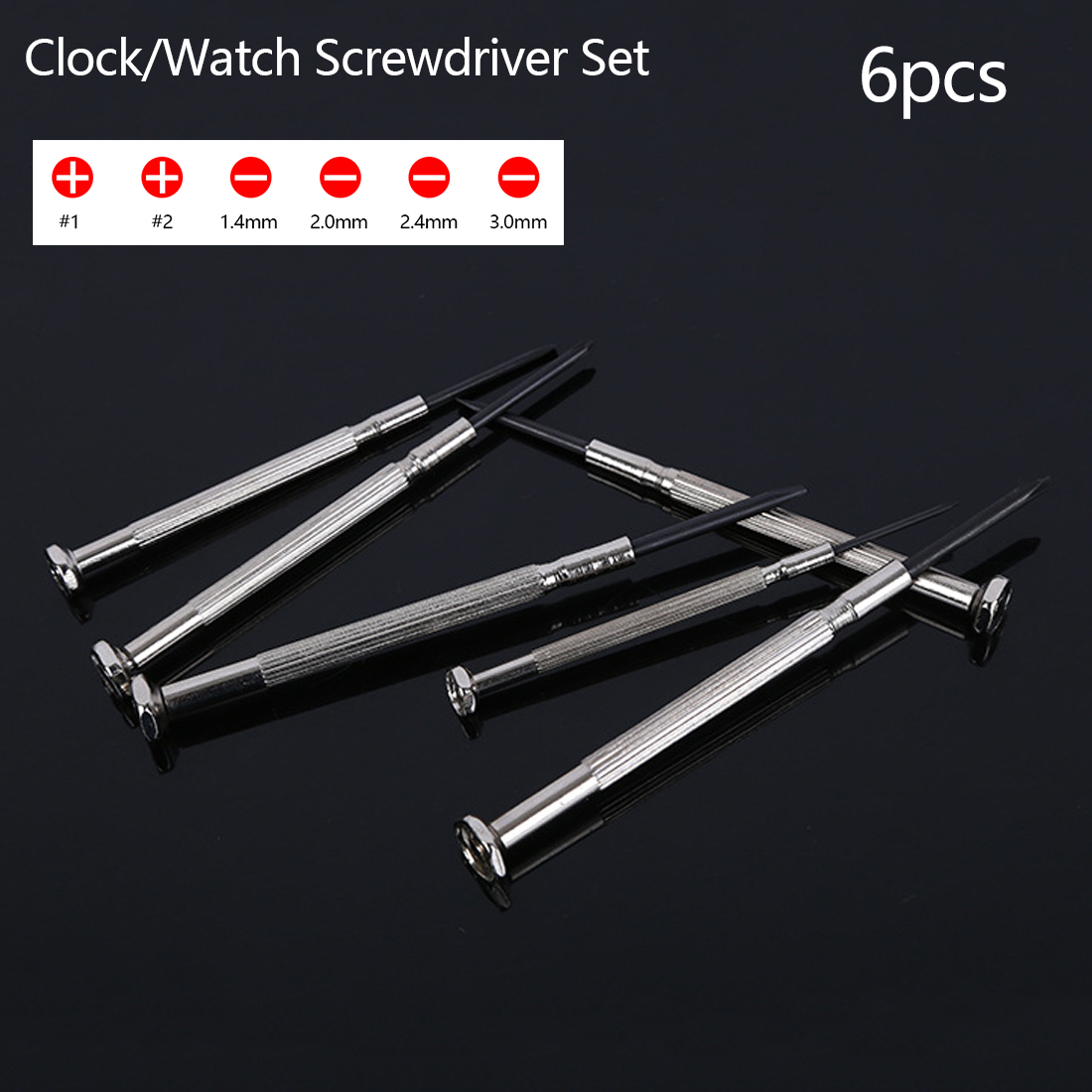 Repair Tools 6pcs Precision Multifunction Mini Small Screwdriver Set With Slotted Phillips Bits For Watch Glasses Screw Driver