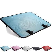 цена на 14 inch Notebook Cooler 5v Dual Fan USB External Laptop Cooling Pad Slim Stand High Speed Silent Metal Panel Fan