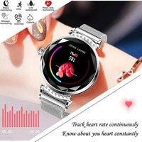 Fashion H2 Smart Watch Women 3D Diamond Glass Heart Rate Blood Pressure Sleep Monitor Call Waterproof Sport Ladies Smartwatches