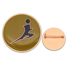 Epoxy Printing Sports Badge Cheap Round Zinc Alloy Back Pin