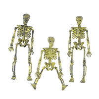 New Halloween Plastic Skull Skeleton Trumpet Skull Model Ornaments Props Simulation Human Decoration Skeleton Halloween for Home