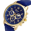 Irisshine #1180 Unisex couple watches Casual Faux Leather Quartz Analog Wrist Watch Watches men women