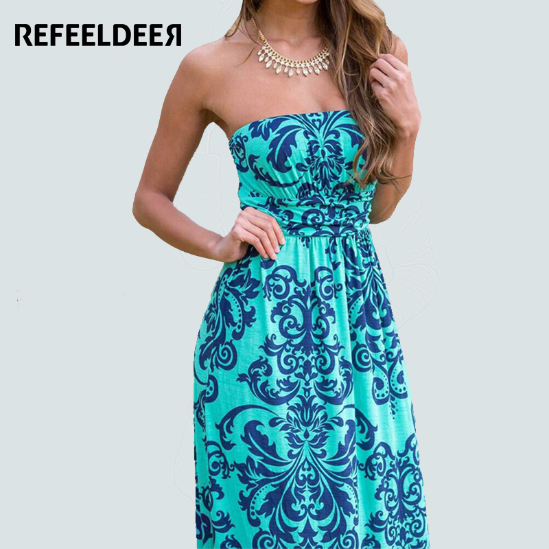 Excellent Summer Women Dresses 2017 Tie Dye Print Side Split Loose Long Dress
