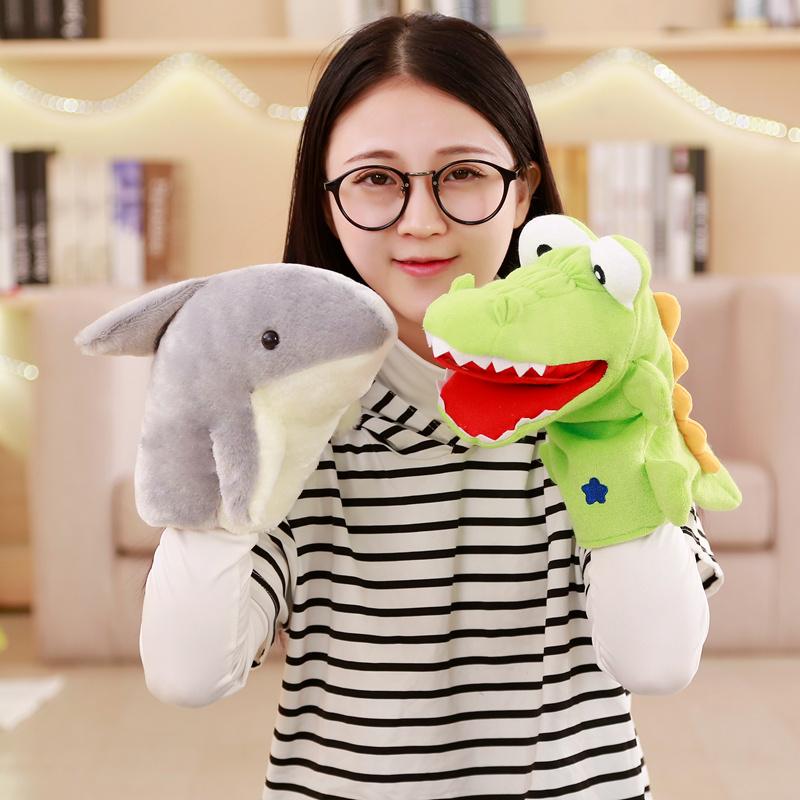 Crocodile Shark Puppets Hand Puppets For Kids Plush Soft Animal Puppets Doll Kids Toys