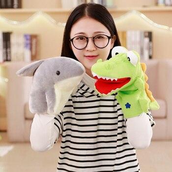 Крокодил, кукла-Акула, Детские плюшевые мягкие марионетки-животные, детские игрушки
