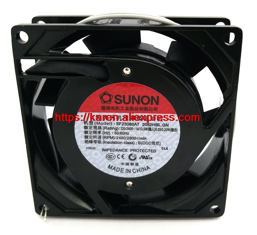 New Original SUNON SF23080AT 2082HBL 220V 80*80*25MM 8CM chassis cooling fan sanyo new fv28025hba 8025 220v 0 15a ac condenser fan with fan for wonsan 80 80 25mm