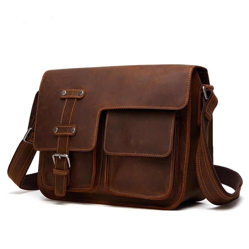 Créateur de mode hommes sac Vintage hommes mallette en cuir véritable cuir de vachette sac à bandoulière sac Messenger sac à bandoulière hommes