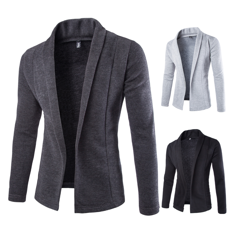 Tröja Män 2018 Märke Kort V-Neck Sweater Coat Cardigan Manlig - Herrkläder - Foto 2
