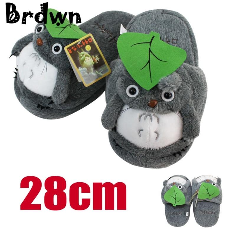 0a6aafd98df Brdwn Pusheen the cat Before Christmas Totoro Soinc Pikachu 28cm 10.6    cute Soft Plush Slippers Cosplay Shoes