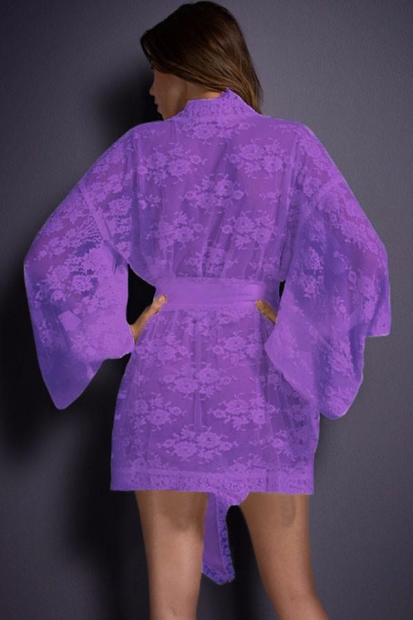 Purple-Belted-Lace-Kimono-Nightwear-LC21998-4-2