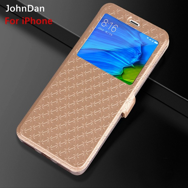 size 40 a26c8 0400c US $3.39 15% OFF|For Apple iPhone XS Max X XR 7 6s 8 Plus TPU + Leather  Gold Window Wallet Card Flip Book Case For iPhone XS X 8 7 6 Plus Cover-in  ...