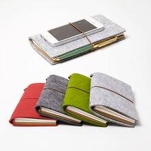 Блокнот с ремешком карманный портативный дневник дорожный журнал