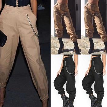 8e7bb6a212b Fashion Streetwear Cargo Pants Women Casual Joggers Black High Waist Loose  Female Trousers Korean Style Ladies ...
