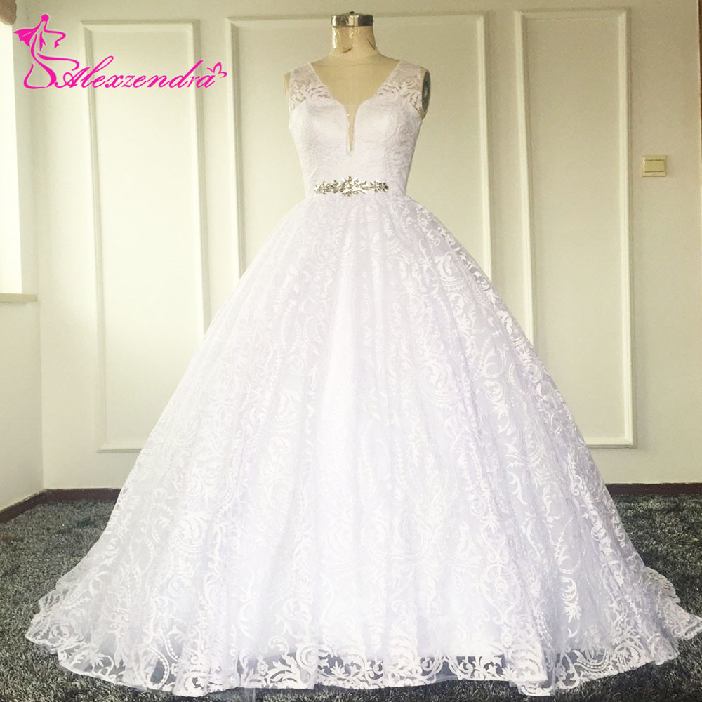 Buy sexy a line lace wedding dress see for See through lace wedding dress