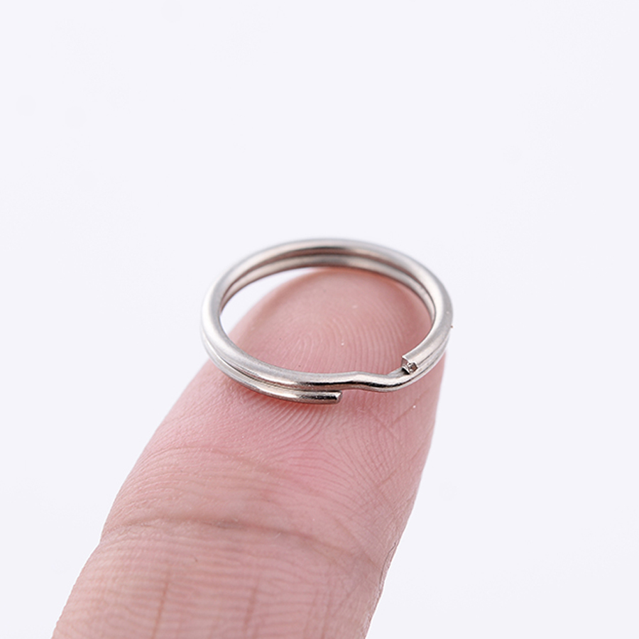 20PCS Chaveiro!15mm Key Ring Alloy Keyring Keychain Personalized Charm Metal Key Accessories For Outdoor Tools J045