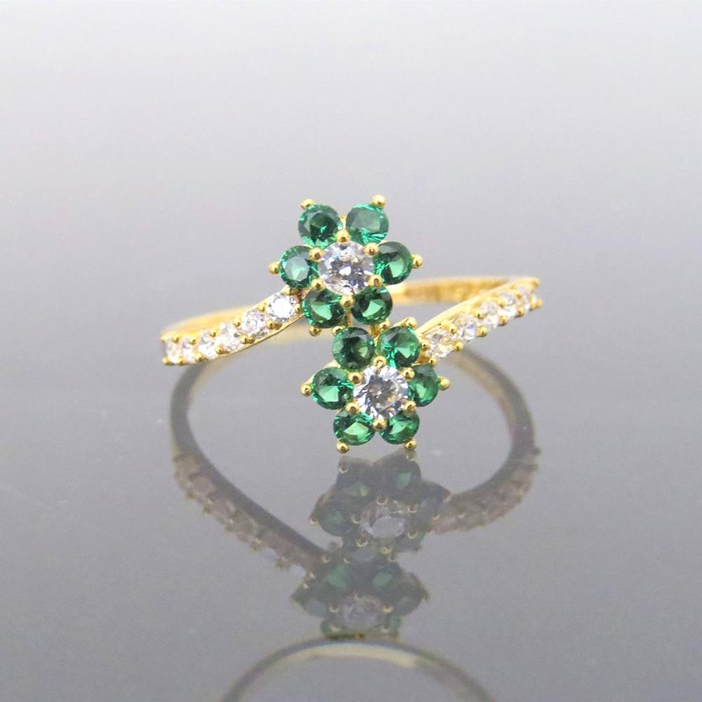 Прекрасный 14 К желтого золота 0.4CTW 1,5 мм Supre белый Moissanite & Tsavorite скручивающий браслет обручальное кольцо для женщин