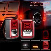 35w LED Integrated Taillight EU Standard For Jeep Wrangler JK 2007 2016 Brake Light Turn Signal