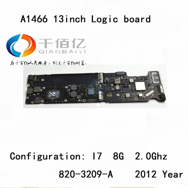 Used with 100% working Logic board for Macbook Air A1466 mother board 13'' I7 8G 2.2Ghz 2012 year 820-3209-A lt37700 lt40600 juj7 820 357 4 board with 370wxn screen%2