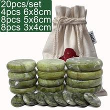 new 19pcs/set green jade body massage hot stone SPA with canvas CE and ROHS 7pcs(5x6)+4pcs(6x8)+8 new 22pcs set green jade body massage hot stone spa with canvas ce and rohs 8pcs 5x6 6pcs 6x8 8