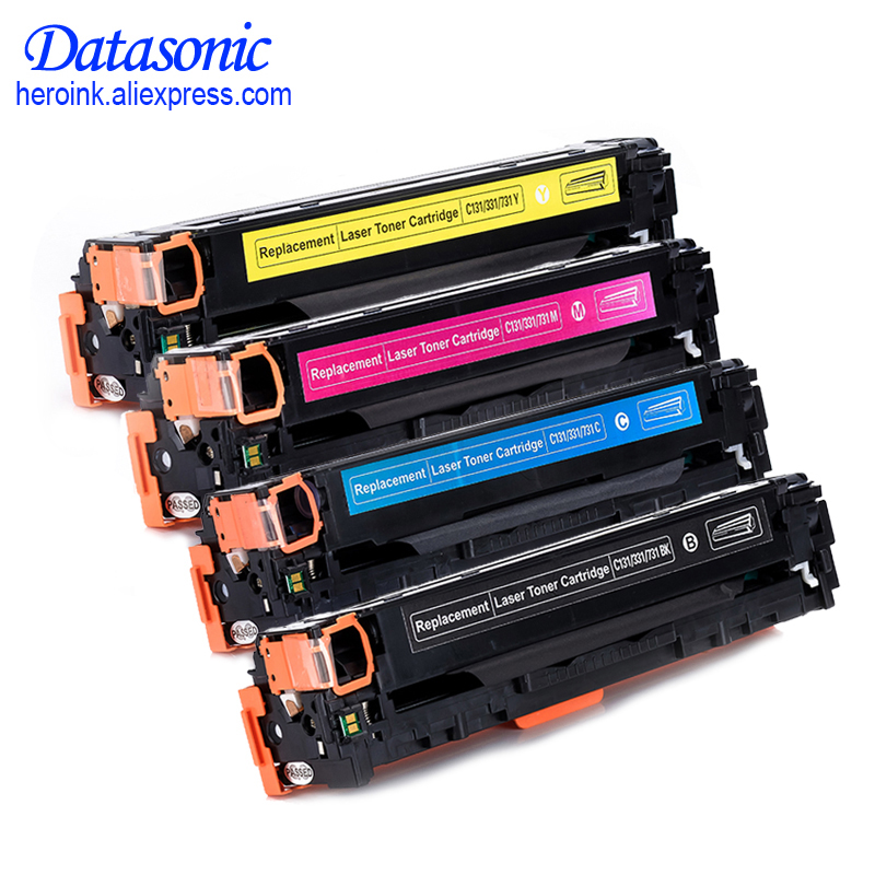 High Quality C131 331 731 Compatible Toner Cartridge For Canon LBP7100CN 7110CW MF8230CN 8280CW Printer 4 pack high quality toner cartridge oki mc860 mc861 c860 c861 color printer full compatible 44059212 44059211 44059210 44059209