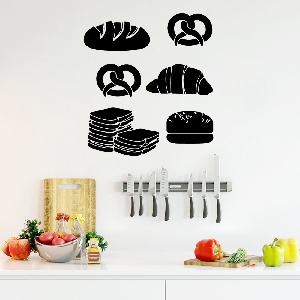Modern fast food Wall Art Decal Decoration Fashion Sticker Pvc Wall Decals Home Decoration Accessories in Wall Stickers from Home Garden