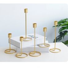 Metal Candle Holders Gold Candlestick Fashion Wedding Candle Stand Exquisite Candlestick Christmas Table Home Decor
