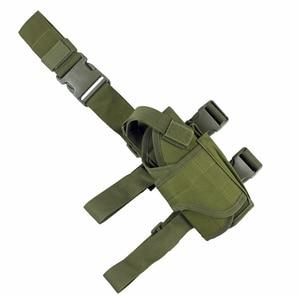 Image 3 - Tactical Universal Drop Leg Holster gun holster bag Adjustable Thigh Pistol Gun Holster for Right Handed