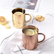 304 Stainless Steel Coffee Mugs Bear Tea Cups Milk Mug watrer Bottle 450ml Europe Style Breakfast Cup Office House Use