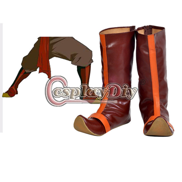 Por encargo Avatar la leyenda de Aang Cosplay zapatos Aang Cosplay botas D0407