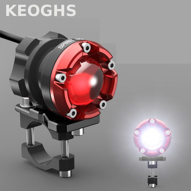 Keoghs High Quality Motorcycle Headlight/spotlight/lamp/auxiliary Light For Honda Cb190 Dirt Bike Yamaha Scooter Kawasaki Z1000 motorcycle scooter electroplate front headlight headlamp head light lamp small mask cap cover shield large for yamaha bws x 125