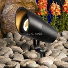 LED גן אור 12V 24V 3W 5W COB IP67 עמיד למים חיצוני נוף קרקע זרקור ספייק דשא מנורת Tuinspot