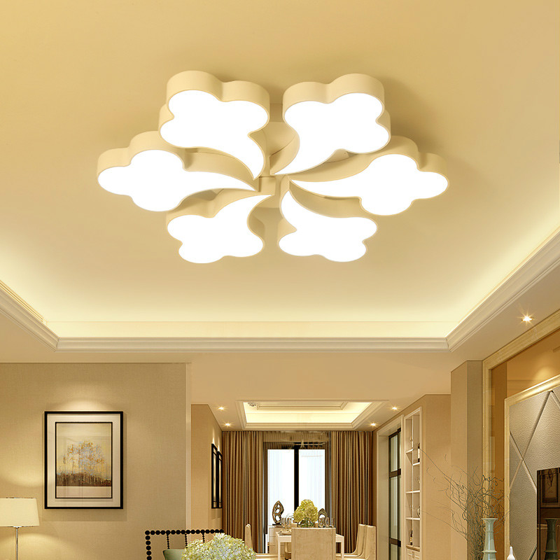 Modern minimalist white iron cloud dimming LED ceiling light acrylic creative personality led ceiling lamp remote control lamps