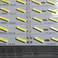 8520 levou rígida tira 100 cm 72 leds 12 v lumen 38-44 lm led strip bar free navio 100 m/pc