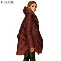 HIJKLNL Europäischen Marke Mode Lose Daunenjacke 2017 Neue Winter Frauen Jacke Lässige Mode Mit Kapuze Daunenmantel Weibliche LH1265