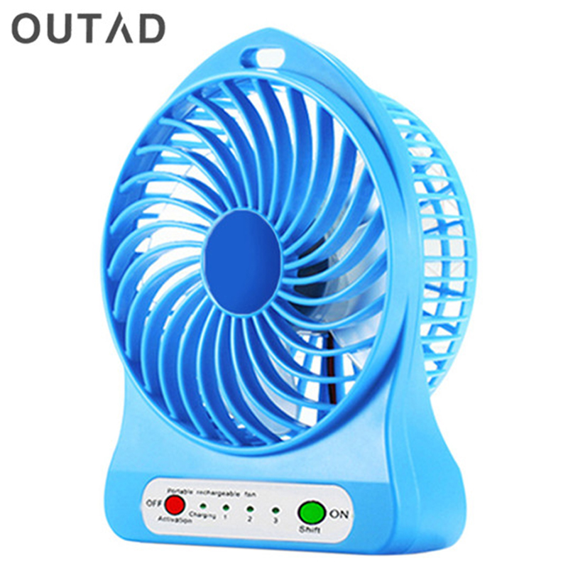 Outad Portable Mini Desk Fan Usb Desk Ventilador Fan Li