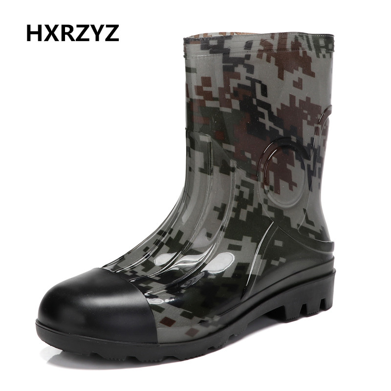 HXRZYZ big size Rain boots new fashion non-slip rubber boots waterproof fishing boots in the tube rain shoes women hxrzyz big size rain boots new fashion non slip rubber boots waterproof fishing boots in the tube rain shoes women