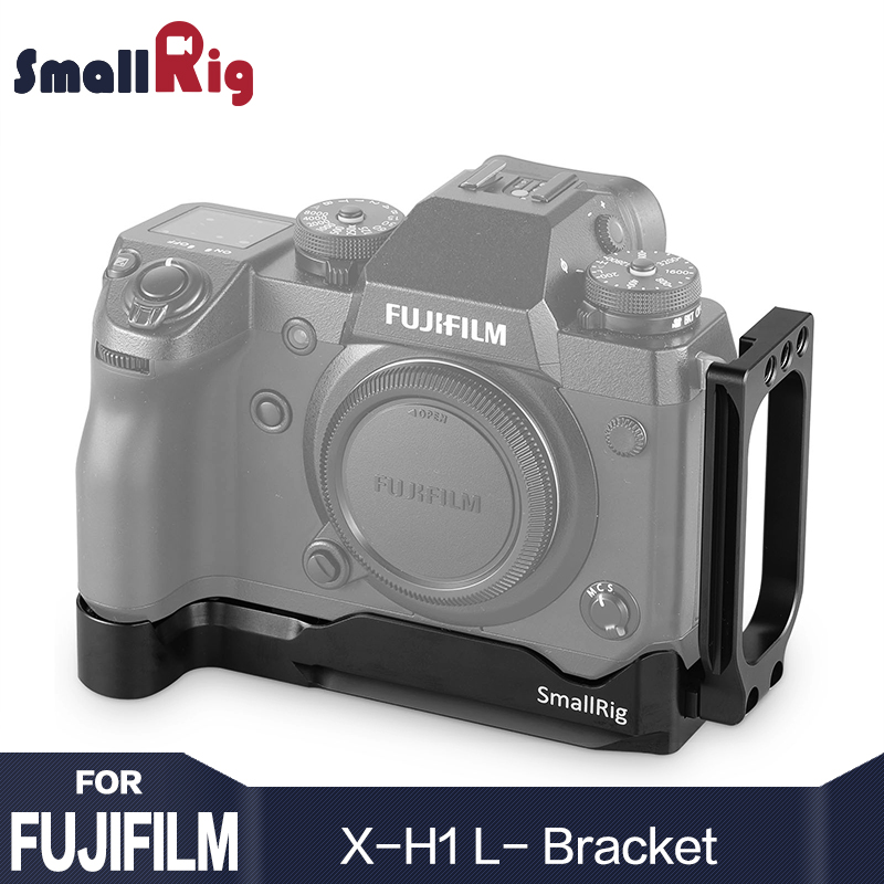 лучшая цена SmallRig Quick Release x-h1 L-Bracket for Fujifilm X-H1 L Plate With ARCA Type AR Plate 1/4 Thread Holes for DIY Accessory 2178