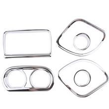 4 Pcs Motorcycle Chrome Dash Gauge Plastic Cover Trim For  Touring Electra Street Road Glide