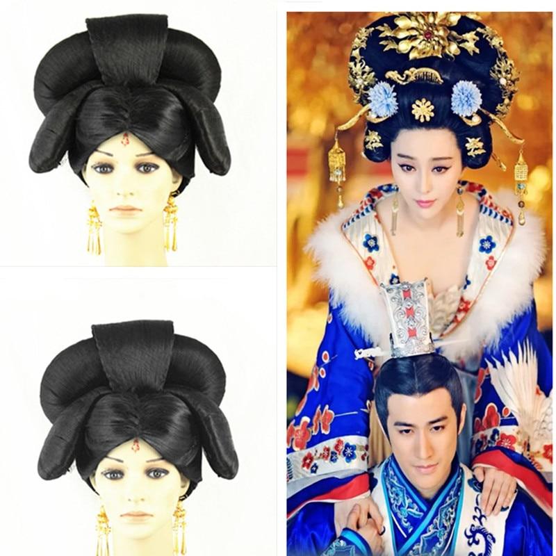 han dynasty empress wu zetian cosplay hair empress hair tang empress hair chinese ancient hair for women costume ancient chinese princess or empress cap hair accessory bride wedding hair tiaras hair coronet