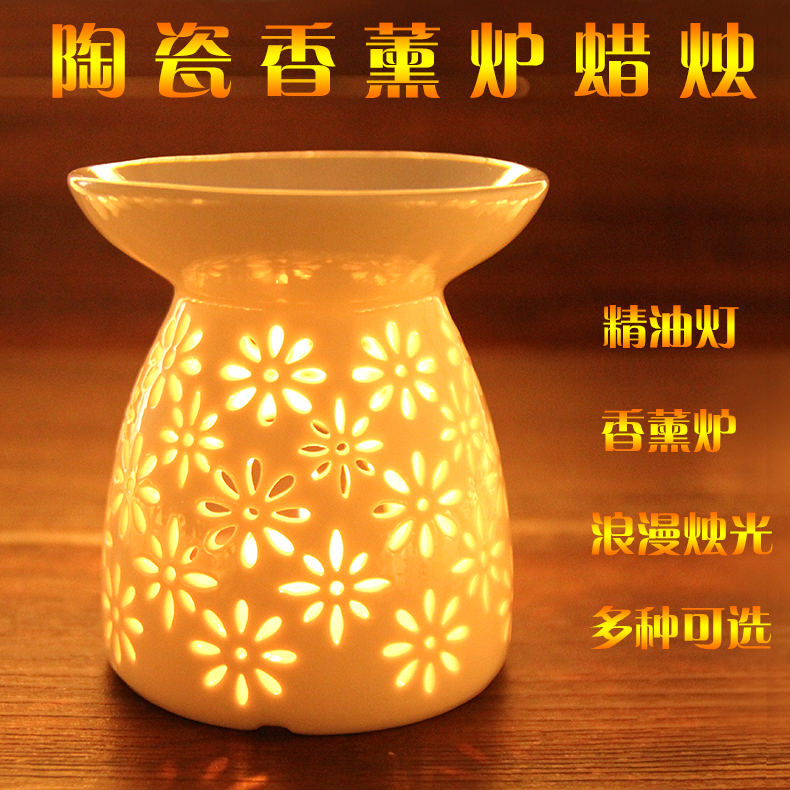 Shipping ceramic incense fragrance lamp candle lamp oil furnace oil burner a variety of optional